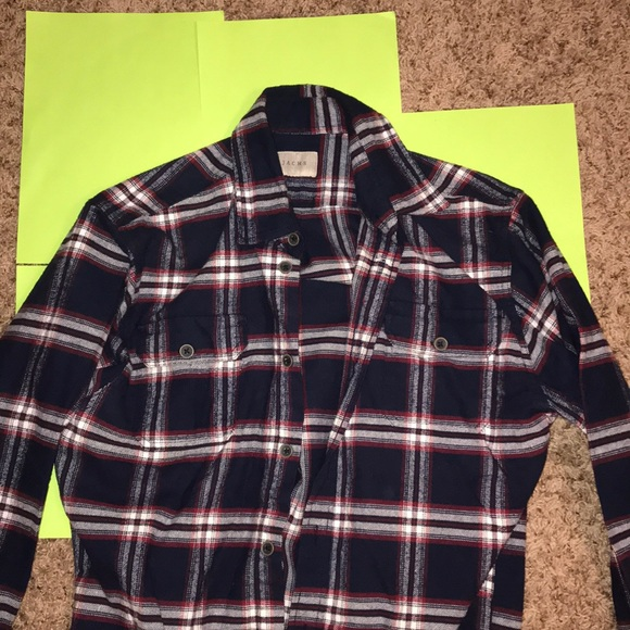Jachs Other - Men's Red and Navy Flannel